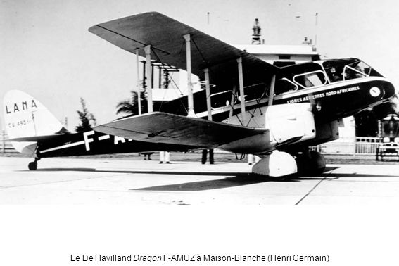Le De Havilland Dragon F-AMUZ à Maison-Blanche (Henri Germain)
