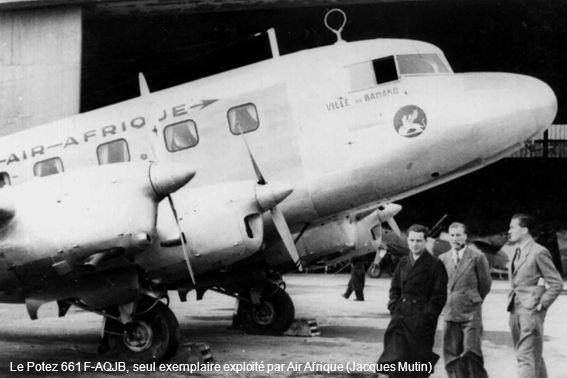 Le Potez 661 F-AQJB, seul exemplaire exploité par Air Afrique (Jacques Mutin)