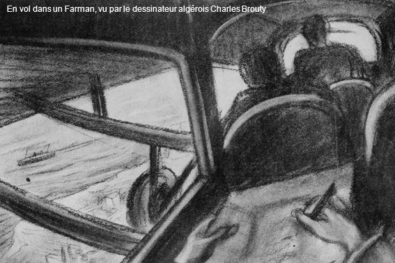 En vol dans un Farman, vu par le dessinateur algérois Charles Brouty