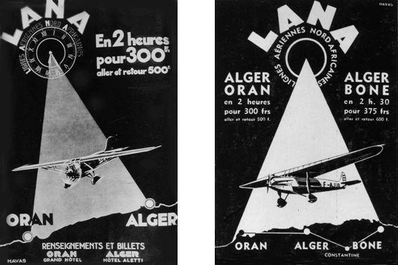 Le 20 avril 1935, arrivée du vol inaugural Alger-Bône.