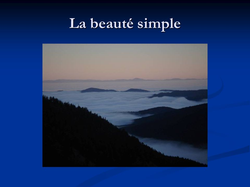 La beauté simple