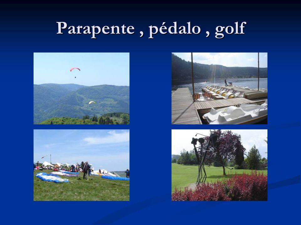 Parapente, pédalo, golf