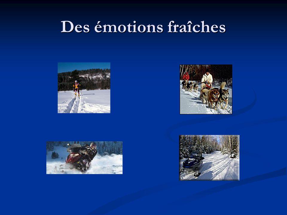 Des émotions fraîches