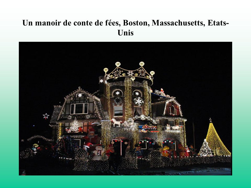 Un manoir de conte de fées, Boston, Massachusetts, Etats- Unis