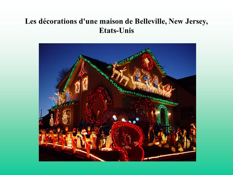 Les décorations d'une maison de Belleville, New Jersey, Etats-Unis