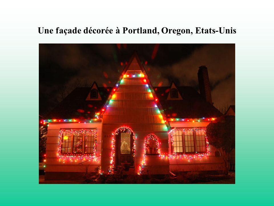 Une façade décorée à Portland, Oregon, Etats-Unis