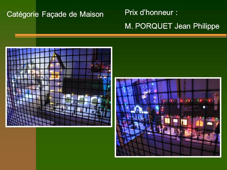 Catégorie Façade de Maison Prix dhonneur : M.
