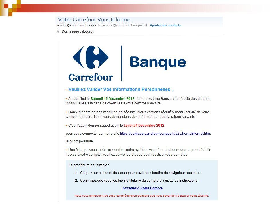 Attentions aux Arnaques Exemples de Mail frauduleux (Phishing – Hameçonnage) VOUS DEVEZ CONNAÎTRE L ARNAQUE DITE DU PHISHING .