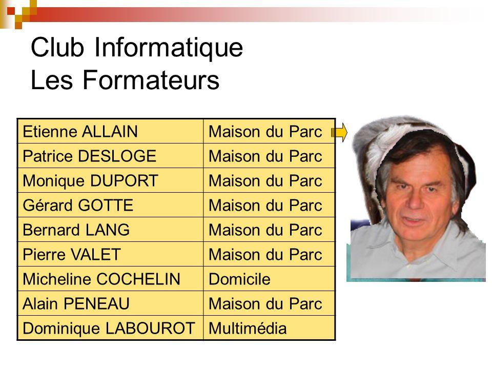 Club Giffois de lAmitié Club Informatique Statistiques de 2007 à 2012