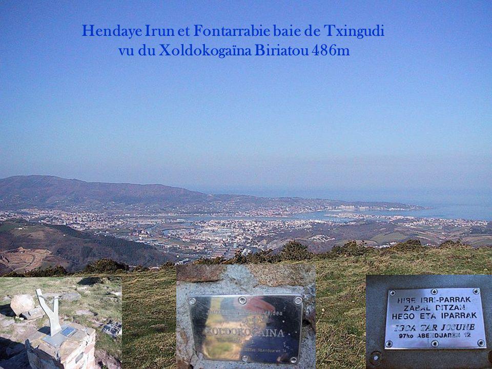 Hendaye Irun et Fontarrabie baie de Txingudi vu du Jaïzkibel 543m