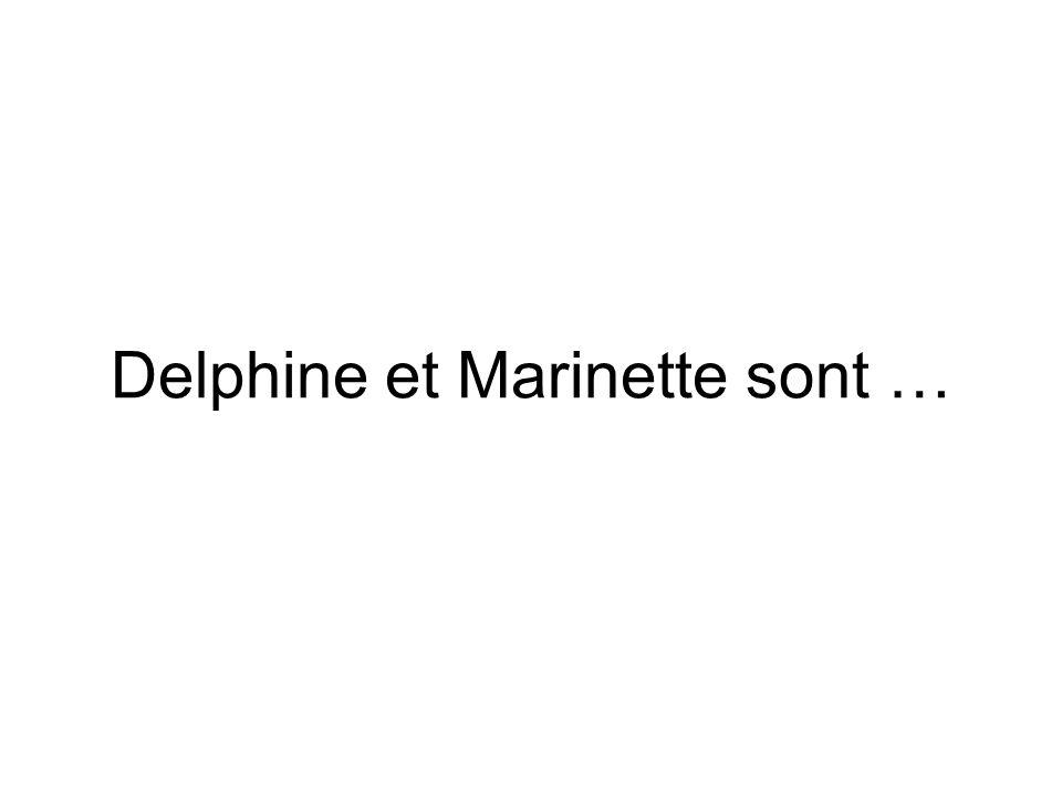 Delphine et Marinette sont …