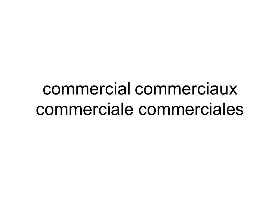 commercial commerciaux commerciale commerciales