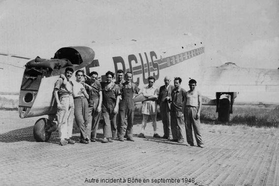 Autre incident à Bône en septembre 1948