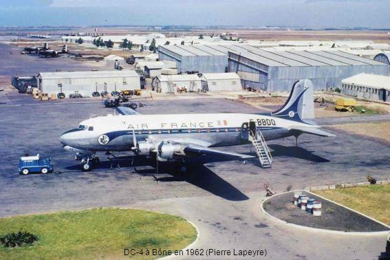 DC-4 à Bône en 1962 (Pierre Lapeyre)
