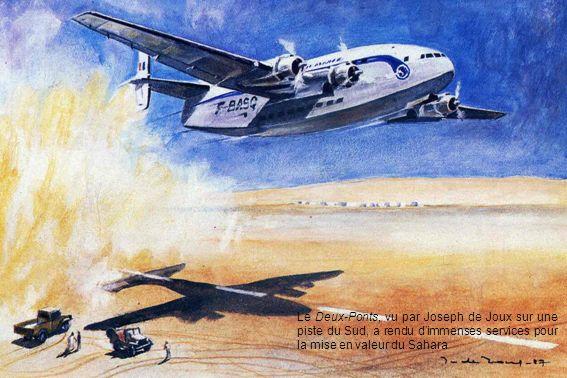 Le Deux-Ponts, vu par Joseph de Joux sur une piste du Sud, a rendu dimmenses services pour la mise en valeur du Sahara