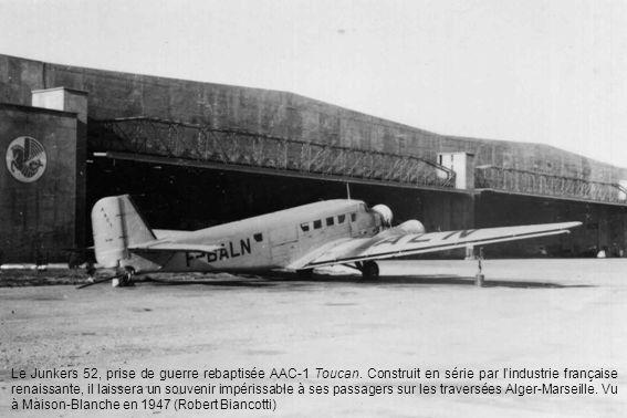 26 mars 1953 - Arrivée du vol inaugural Paris-Alger en Bréguet Deux-Ponts.