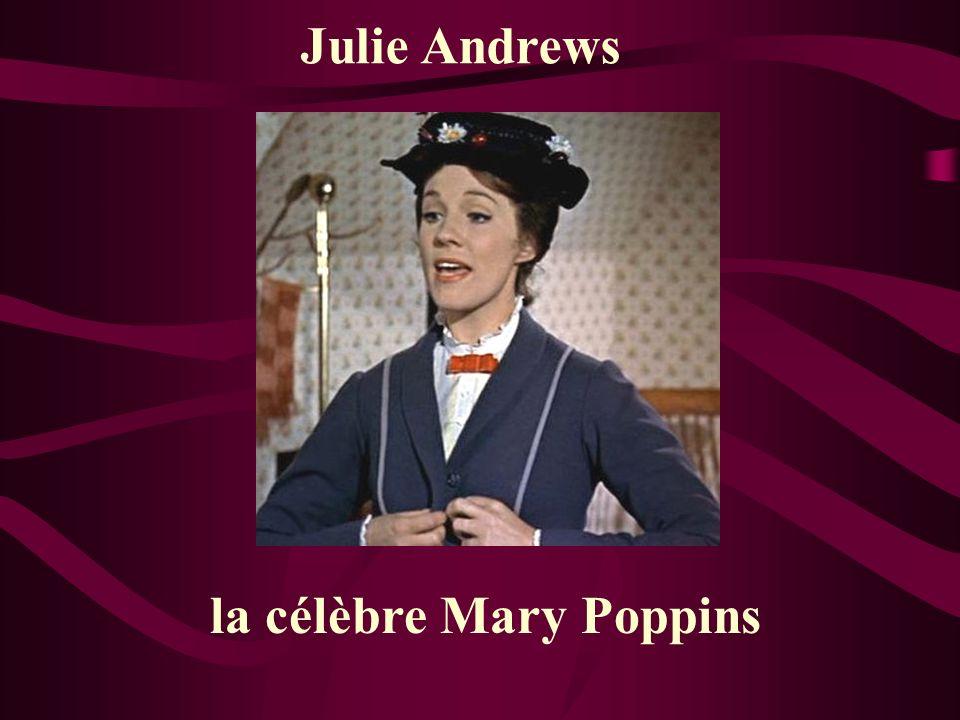 Julie Andrews la célèbre Mary Poppins