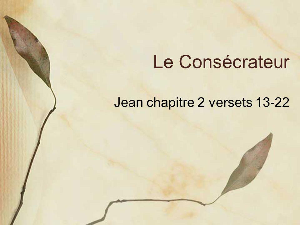 Le Consécrateur Jean chapitre 2 versets 13-22