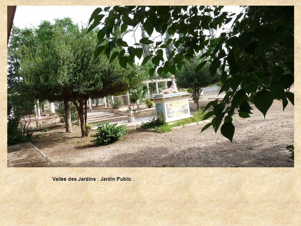 Vallée des Jardins : Jardin Public.