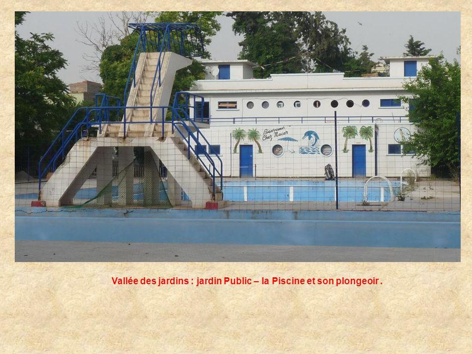 Vallée des Jardins : Jardin Public – la Piscine.