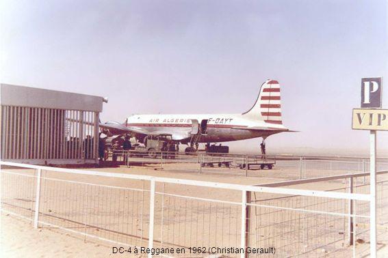 DC-4 à Reggane en 1962 (Christian Gerault)