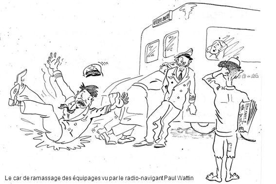 Le car de ramassage des équipages vu par le radio-navigant Paul Wattin
