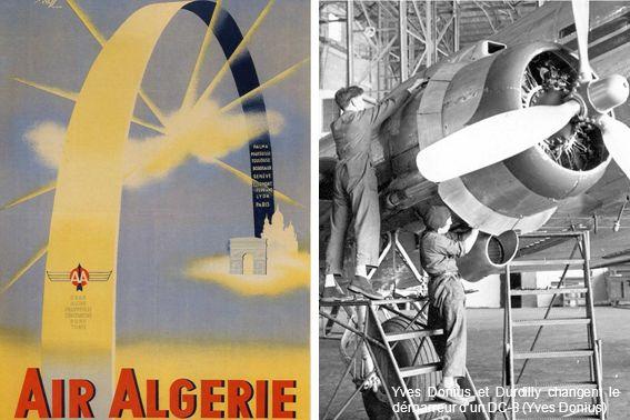 Yves Donius et Durdilly changent le démarreur dun DC-3 (Yves Donius)