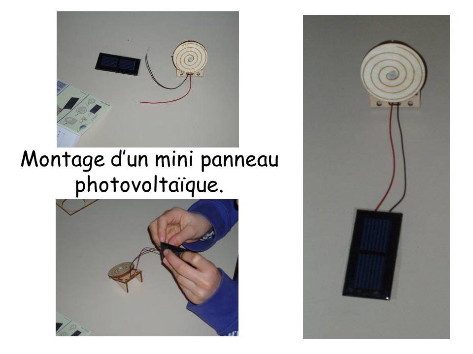 Montage dun mini panneau photovoltaïque.