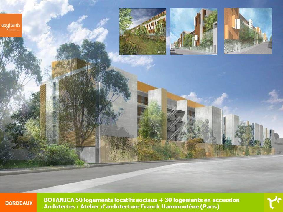 BORDEAUX Pôle gérontologie (EHPAD de 50 places, EHPA de 25 lits) + 20 logements locatifs + locaux associatifs + agence aquitanis - Architectes : Lanoire & Courrian & Flint