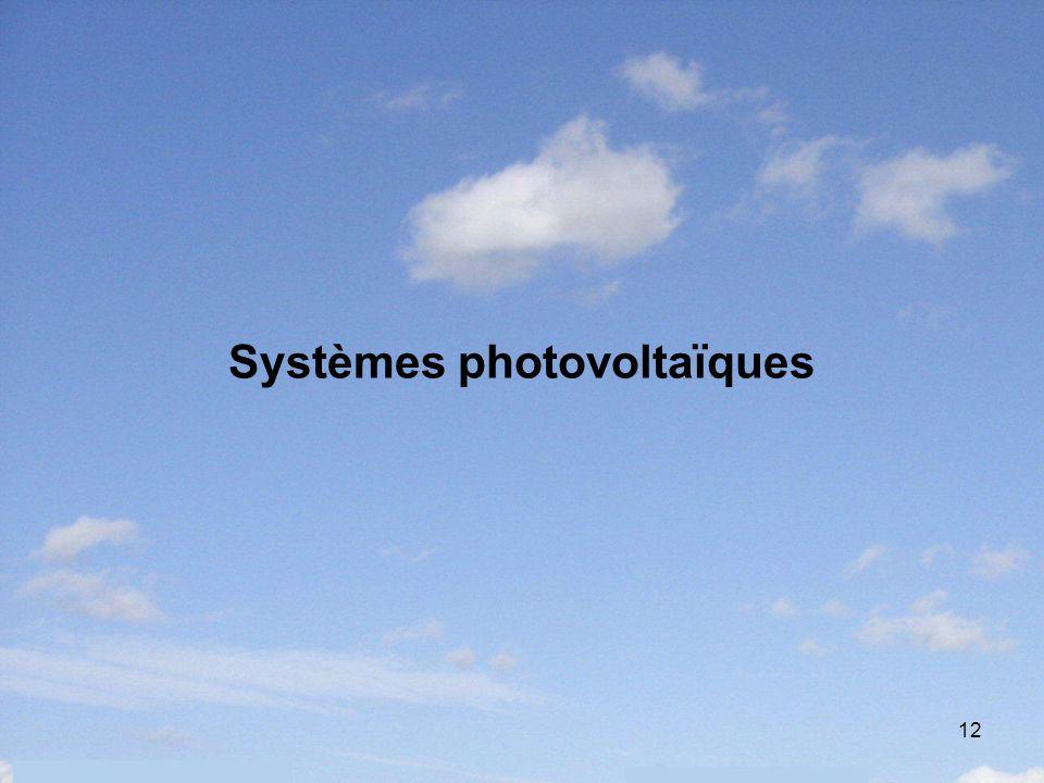 12 Systèmes photovoltaïques