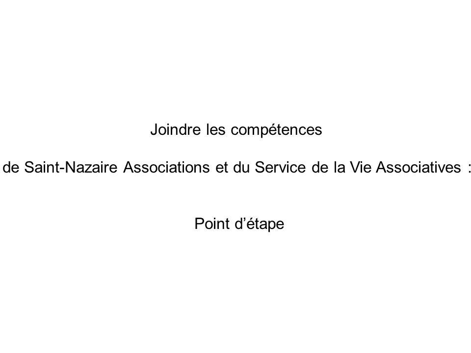 Joindre les compétences de Saint-Nazaire Associations et du Service de la Vie Associatives : Point détape