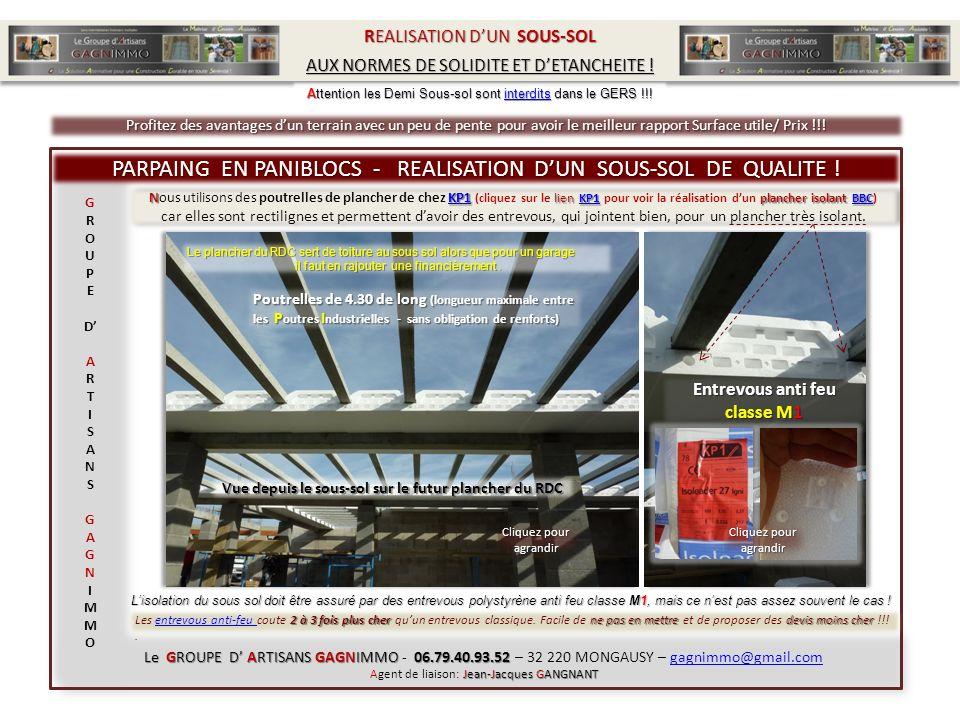NKP1 lien KP1 plancher isolant BBC Nous utilisons des poutrelles de plancher de chez KP1 (cliquez sur le lien KP1 pour voir la réalisation dun planche
