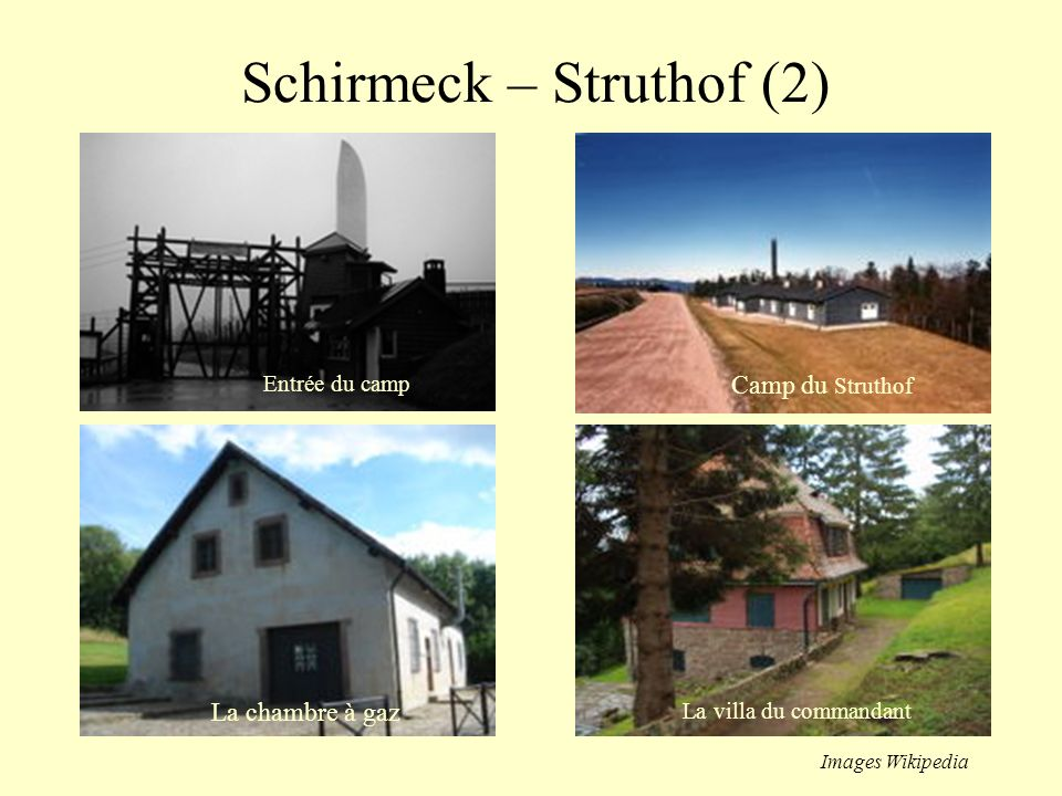 Schirmeck - Struthof (1) Le Struthof est un écart de la commune de Natzwiller au sud-ouest du département du Bas-Rhin. Le lieu est resté tristement cé
