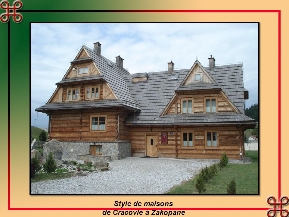 Style de maisons de Cracovie à Zakopane