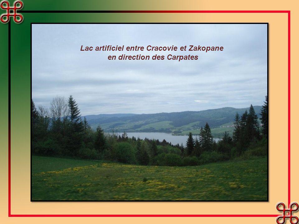 Lac artificiel entre Cracovie et Zakopane en direction des Carpates
