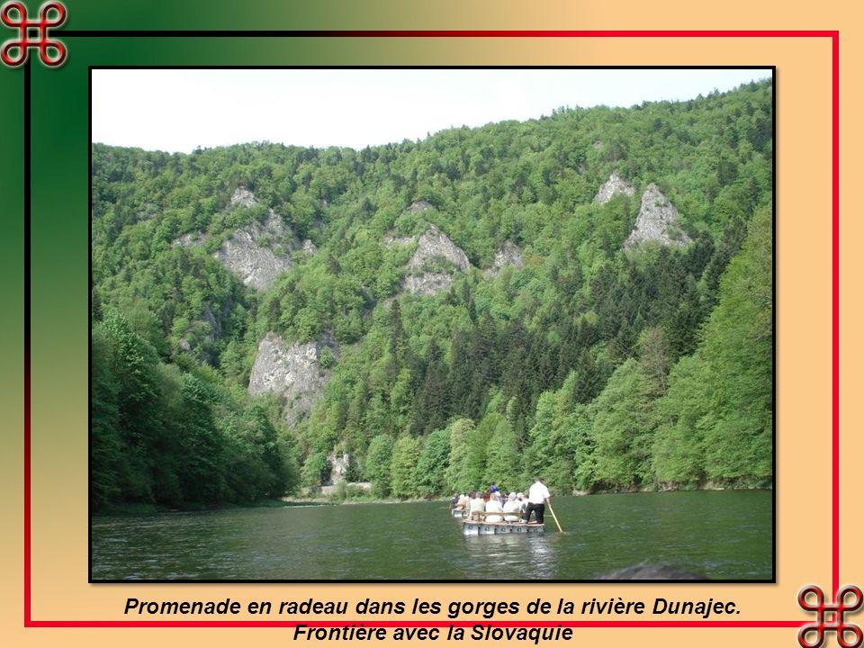 Promenade en radeau dans les gorges de la rivière Dunajec. Frontière avec la Slovaquie