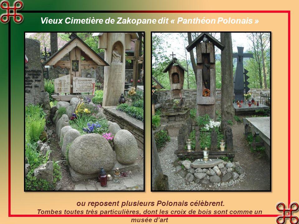 Vieux Cimetière de Zakopane dit « Panthéon Polonais » ou reposent plusieurs Polonais célèbrent.