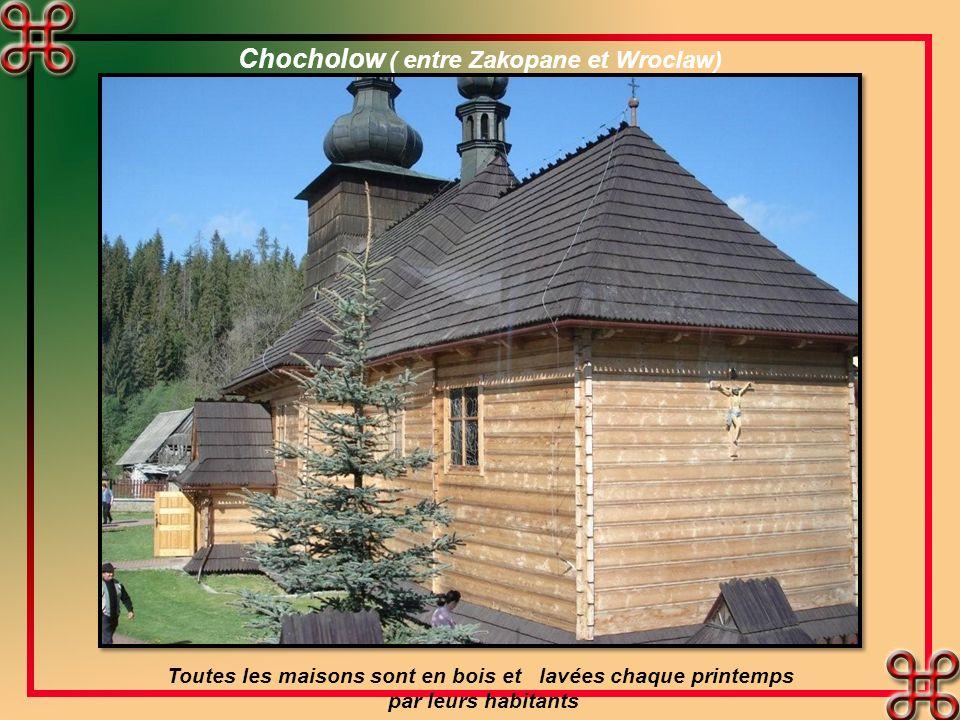 Chocholow ( entre Zakopane et Wroclaw) Toutes les maisons sont en bois et lavées chaque printemps par leurs habitants