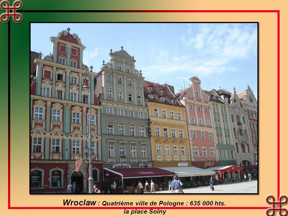 Wroclaw : Quatrième ville de Pologne : 635 000 hts. la place Solny
