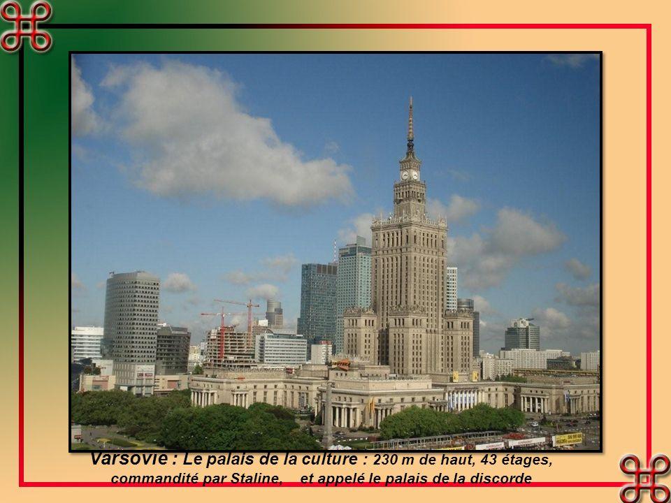 Varsovie et ses remparts.