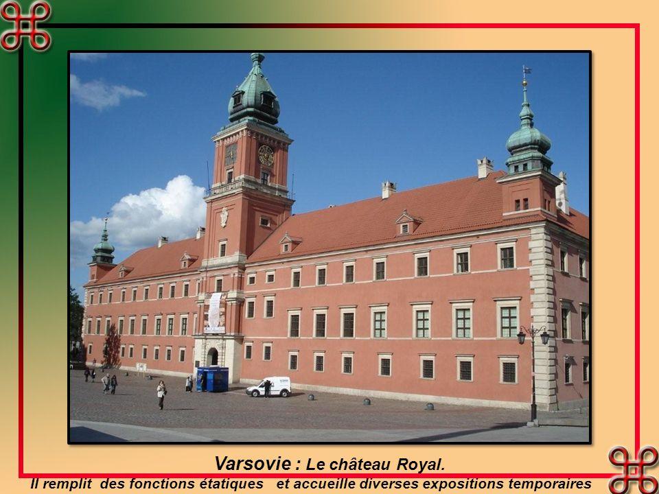Varsovie : Le château Royal.