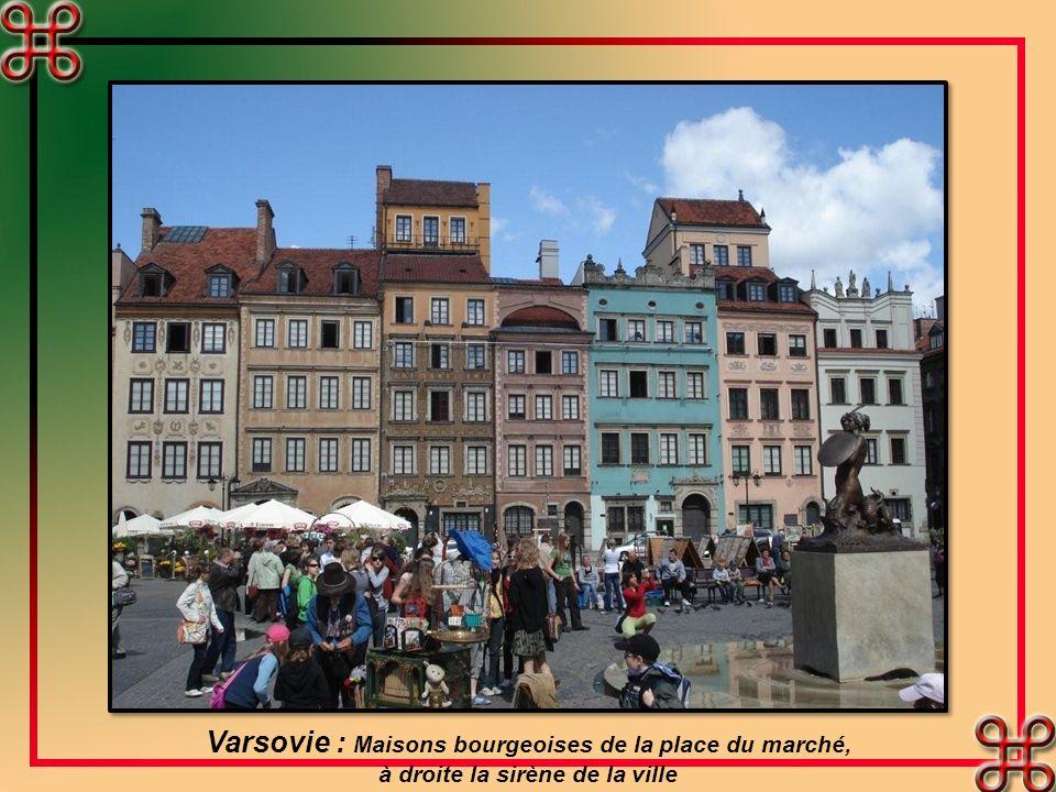 Varsovie : Le château Royal. Il remplit des fonctions étatiques et accueille diverses expositions temporaires