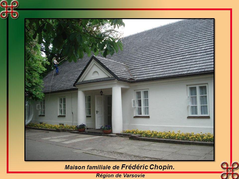 Maison familiale de Frédéric Chopin. Région de Varsovie