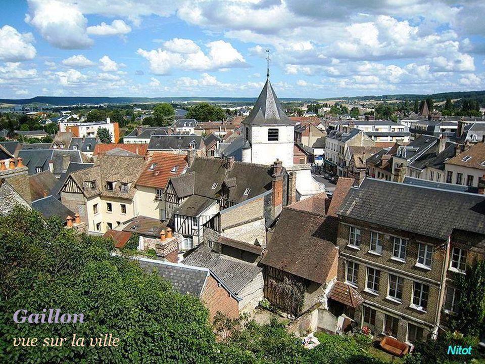 Maisons à colombage.Château des Tourelles du XIIe siècle - Le vieux moulin V e r n o n