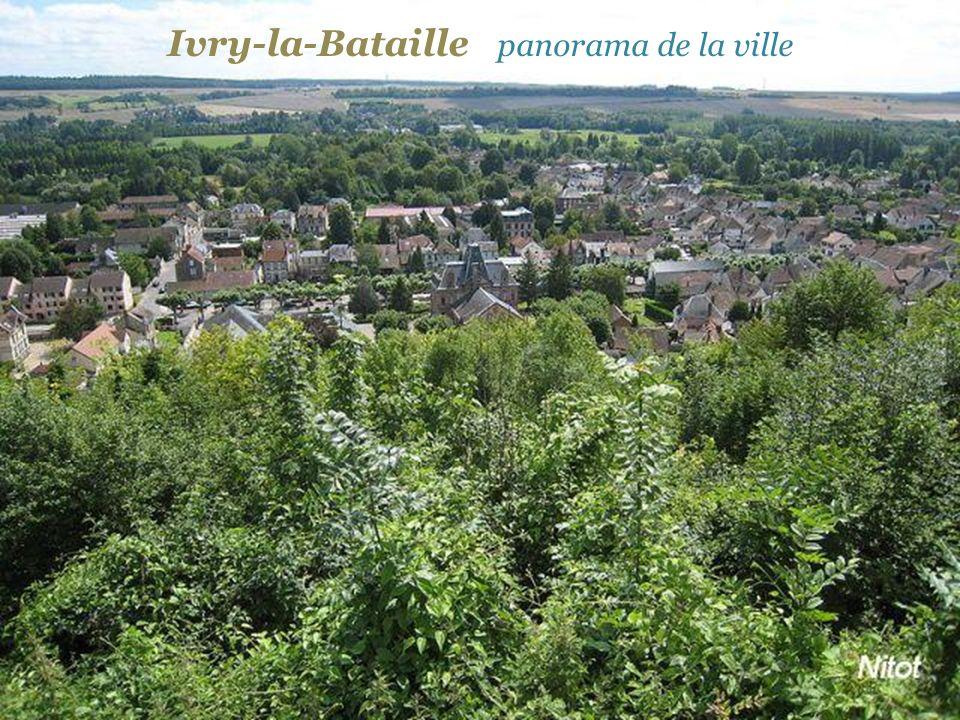 Ivry-la-Bataille panorama de la ville