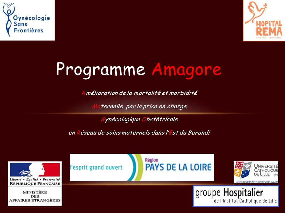 Programme Amagore Amélioration de la mortalité et morbidité Maternelle par la prise en charge Gynécologique Obstétricale en Réseau de soins maternels