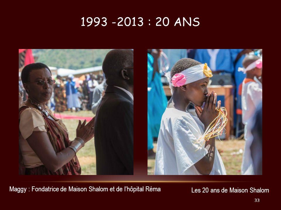 1993 -2013 : 20 ANS Maggy : Fondatrice de Maison Shalom et de lhôpital Réma Les 20 ans de Maison Shalom 33