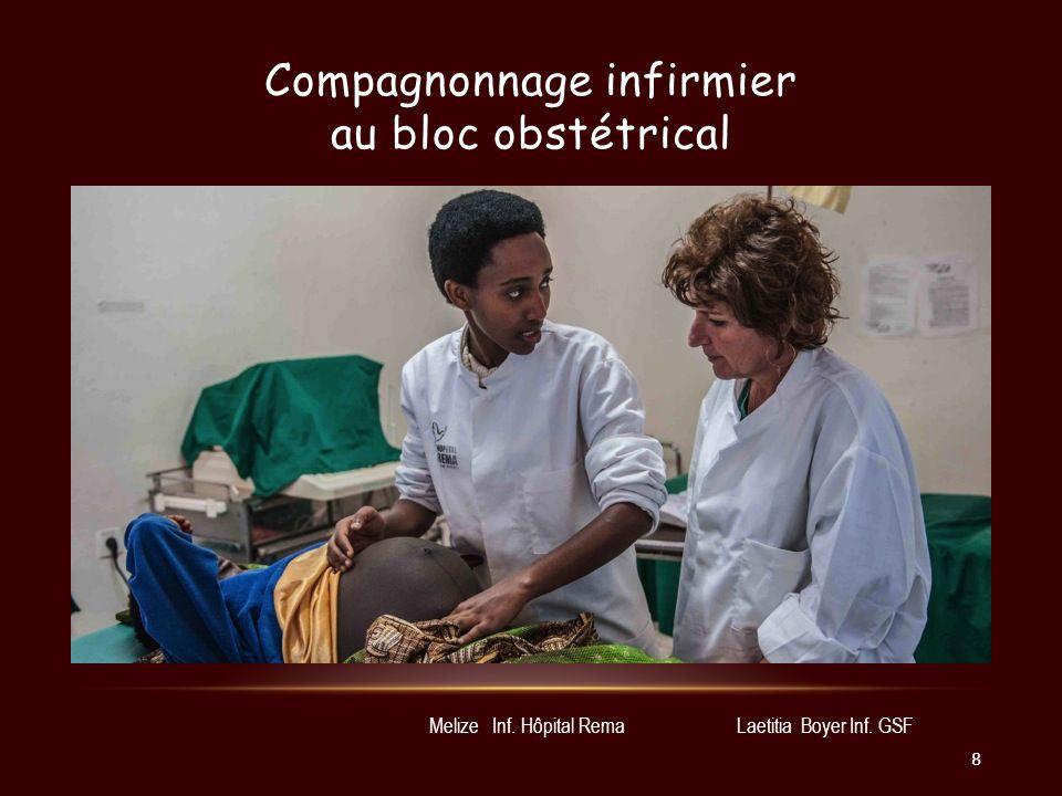 Compagnonnage infirmier au bloc obstétrical Laetitia Boyer Inf. GSFMelize Inf. Hôpital Rema 8