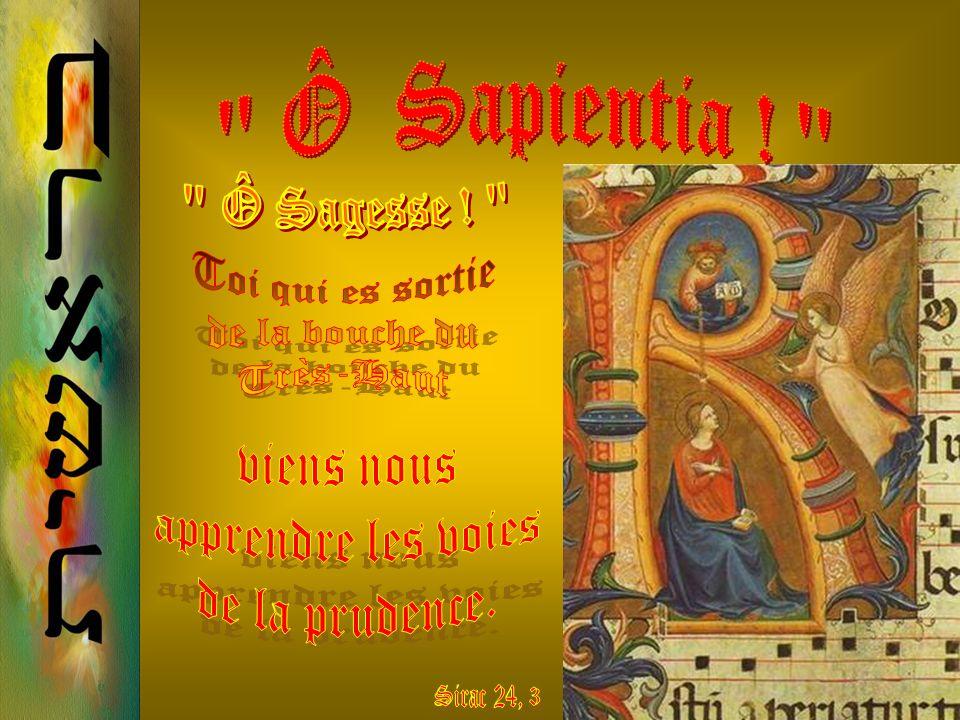 Linstant choisi pour faire entendre ce sublime appel à lamour du Fils de Dieu est lheure des Vêpres. Chacune de ces antiennes est un cri vers le Messi
