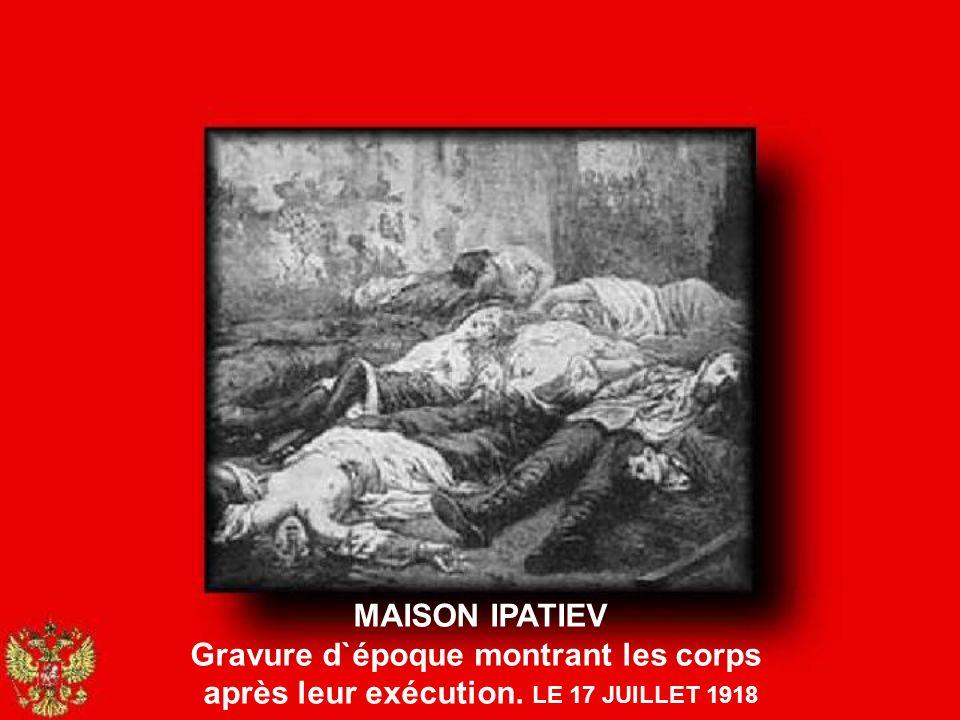 MAISON IPATIEV CHAMBRE OÙ FUT MASSACRÉE LA FAMILLE IMPÉRIALE LE 17 JUILLET 1918